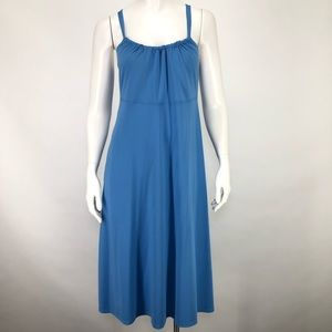 North Face M Abby Convertible Dress Blue Casual